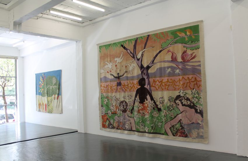 Click the image for a view of: Tapestries installation 7