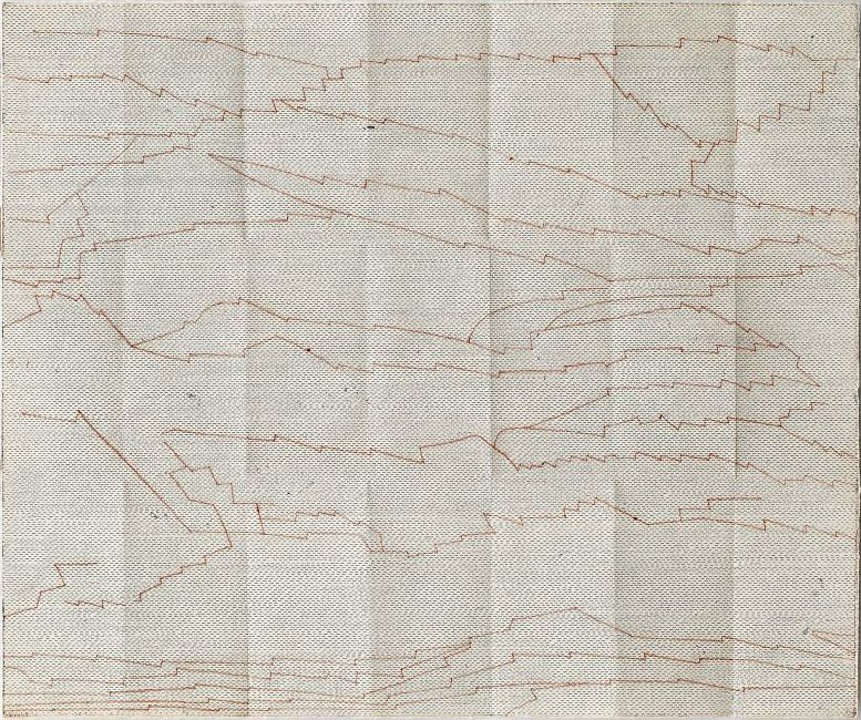 Click the image for a view of: Chloe Reid. documents V. 2015. Etching on paper, folded. 390X470mm